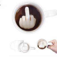 Wholesale mixing mug - Creative Design Ceramic mug middle Finger Style Novelty Mixing Coffee Milk Cup Funny Ceramic Mug Water Cup KKA3262
