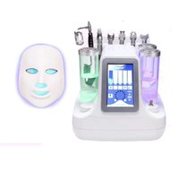 Wholesale Aqua Led - Professional 7 IN 1 Hydrafacial Hydra Dermabrasion LED Mask Aqua Peel BIO Lifting Ultrasound RF Cold Hammer SPA Machine For Facial Clean