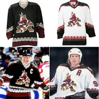 Wholesale Roenick Jersey - Factory Outlet, Custom Arizona Phoenix coyotes Jersey Black white Classic Throwback Stitched 19 shane doan 97 Jeremy Roenick 7 Keith Tkachuk