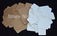 Wholesale Wholesale Card Displays - Free Shipping,Wholesale 1000pcs lot Brown white Paper Custom Jewelry Earring Packaging Display Cards 2.5*3.5CM Top Quality