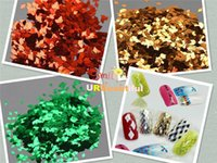 Wholesale Rhombus Glitter Nail Art - New 4X2mm 18Colors Nail Art Decoration Rhombus Paillette Glitter Nails Glitter 3D Slice Powder Set 3g bottle packing