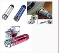 Wholesale Car Ionic Purifier - Car Air Freshener Purifier Ionic car Perfume Fragrance Ionizer Red With Blue LED light