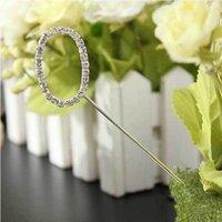 Wholesale Diamante Number Cake - Wholesale-LaniGood Diamante Crystal Rhinestone Number 0-9 Shape Wedding Cake Topper Decor
