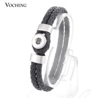 Wholesale Trend Bracelet - VOCHENG Small NOOSA 12mm Ginger Snap Jewelry Charm Bracelet Trend Jewelry Interchangeable Genuine Leather (Vb-022)