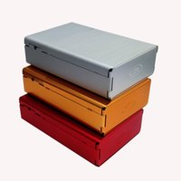 Wholesale Bottom Case - Side And Bottom Open Cigarette Case 20pcs Cigarettes Packing Aluminum Cigarette Case Tobacco Holder Box For Men