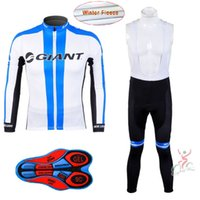 Winter 2017 Giant Team Winter Fleece Ropa Ciclismo Langarm Radtrikot + (Latz) Hosen Set Winter Thermo Fleece Bike Kleidung H117