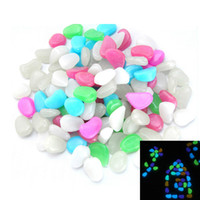 Wholesale Glow Stones Wholesale - Colorfull Solar Glow Stone Simulation Lightweight Luminous Pebble Stone Home FishTank Decor Garden Corridor Holiday Decorations Night Light