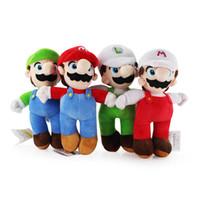 Wholesale Wholesale Christmas Stocking Stand - In Stock 10inch 25cm Cartoon Super Mario Bros Stand MARIO & LUIGI Plush Toy Stuffed Doll Baby Toys