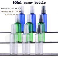 Wholesale Etching Spray - free shipping Capacity 100ml 30pcs lot Rounded shoulders full cover spray bottles, plastic sample sub-bottling, spray bottle