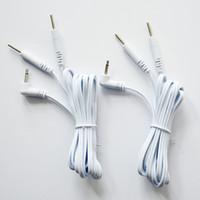 zehner führt großhandel-1 Paar Jack DC Kopf 2,5mm TENS Kabel 2-pin Elektrode Blei Drähte Stecker 2,0mm Für TENS / EMS Maschinen