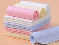 Wholesale Sale Washable Diaper - Hot Sale 3 Layer Ecological Cotton Insert Diapers Nappy Liners Washable Baby Breathable Diapers 50pcs lot free shipping NP-33