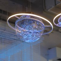 Wholesale Wholesale Supply Showcase - New Arrival Shine LED Flash Star Ball Wedding Showcase Decoration Space Planet Hanging Ornament Chandelier Free Shipping