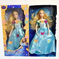 Wholesale Children Playing Snow - Free shipping Newest 12'' Princess Cinderella dolls 2015 snow wihte play toys for girls Gift Children DIY toy angel doll