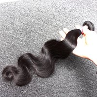 Hot Sale Indian Hair 3pcs / lot Unprocessed Human Hair Weaves Wavy Body Wave Natural Black Color Hair Extension Frete Grátis