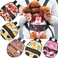 Wholesale Canvas Sling Bag For Dog Pet Puppy Small Dog Reversible Haversack Shoulder Bag Backpacks Doggie Carriers Totes
