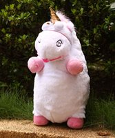 Wholesale Despicable Fluffy Unicorn Plush - Despicable Me Fluffy Unicorn Plush Pillow Toy Doll big 22 inch Fluffy figure gift Free shipping