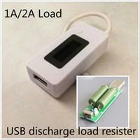 güncel izleme toptan satış-LCD Ekran Şarj USB Test Cihazı Taşınabilir Monitör Güç Bankası Pil Dedektörü Akım Gerilim Metre + USB deşarj yükü direnci