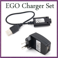 Wholesale Ego Evod Set - Best Wall Charger Set USB charger Cable US  EU UK Wall Adapter for EGO e Cigarette EVOD X6 vision spinner Electronic Cigarette