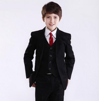 Wholesale wedding wear price for sale - Group buy Factory Price Hot Recommend Best Sale Boys Formal Occasion Tuxedos Wedding Kid Dress Suit Jacket Pants Tie Vest NO