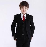 ingrosso tuxedo viola dei ragazzi-Prezzo di fabbrica Hot Consiglia Best Sale Ragazzi Smoking Occasioni formali Wedding Kid Dress Suit (Jacket + Pants + Tie + Vest) NO: 11