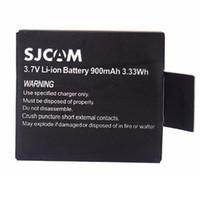 Wholesale Gopro Micro - Top Quality 2x900mAh 3.7V Lithium Digital Batteries SJCAM SJ4000 SJ 4000 Battery Bateria +Micro usb Charger For SJ4000 SJ5000 Plus SJ6000