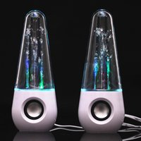 Wholesale colorful water speakers resale online - Dancing Water Tumbler Speakers Round Colorful USB LED Light Mini Speaker For iphone Samsung HTC LG DHL Free MIS104