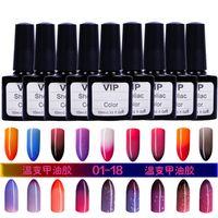 Wholesale choice led - Wholesale-36 Colors Choices ! UV&LED Soak Off Nail Gel Polish Temperature Change Colors 10ml Nails Gel Lacquer#HT-TC36