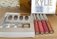 Wholesale Christmas Gift Set Ideas - Kylie Holiday Edition Kit 4pcs Matte kylie jenner Liquid lipgloss Collection Set For Christmas Gift from idea free ship