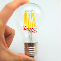 Wholesale Led Candle Light Bulb B22 - 6pcs lot NEW filament led bulb E27 B22 4W 6W 8W dimmable chandelier LED CE ROHS AC110V-240V filament candle Light bulb lamps