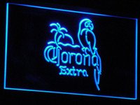 Wholesale Corona Neon Beer Lights - a108 7 Colors Corona Beer OPEN Bar Pub Club Neon Light Signs Wholesale Dropshipping Free Ship
