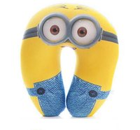 Wholesale Minions Neck Pillow - Frozen U-shape Neck Pillow and Cushion big hero 6 minions neck Cartoon Plush Pillow elsa anna Cartoon Travel Relax Pillow free shipping