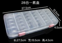 Wholesale Diy Nail Jewelry Accessories - 28Pcs Round Small Bottle lear Plastic Jewelry Beads Storage Box, Retail DIY Jewelry Accessories Set Case Nail Tool