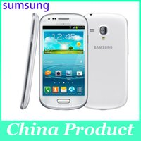 Wholesale Mini S3 3g - Oridinal 4.0'' Samsung Galaxy S3 mini i8190 Refurbished 480 x 800 GSM 3G Dual-core mobile phone WIFI GPS 8GB Smartphone 002868