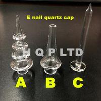Wholesale Quartz Size - Quartz DomelessNail Quartz carb cap for quartz e nail flat top Dab nail caps size 12mm 16mm fitting 16mm and 20mm nail bowl