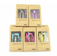 Wholesale Noodles Boxes - 100pcs Earphone For Samsung Galaxy S4 i9500 S 4 Headphone Headset With 3.55mm Mic Remote Volume Control With retail box noodles earphones