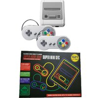 Wholesale Plastic Hd - HDMI HD Super Mini Classic SFC TV Handheld Game Console Entertainment System Buit-in 621 Classic games For Mini NES SNES Console DHL