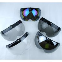 Wholesale Visor Tint - Free shipping torc MOTORCYCLE helmet visor shield vintage 3 4 open face HELMET VISOR TINTED SHIELD Three color