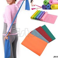 Wholesale Cheapest Resistance Bands - Wholesale-A24Hihg Quality! 2015 New Cheapest Exercise Pilates Yoga Dyna Resistance Abs Workout Physio Aerobics Stretch Band