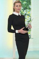 Wholesale Peter Pan Collar Knee - Spring Autumn Victoria Beckham Dress Women Brand Vintage Black Long Sleeve Peter Pan Collar Dress OL Office Pencil Midi Bodycon Dress S6879