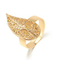 Wholesale Gold Fill Jewelery - Gold Rings for Women Fashion 18K Gold Plated Left Heart Honeycomb Opened Adjustable Vintage Woman Rings Charming Jewelery Open RINGS