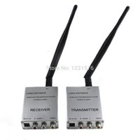 Wholesale Video Transmitter 1w - 1Pair Long Distance Wireless 4 Channels 2.4G 1W wireless transmitter System transmission with stereo & Video