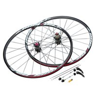 Wholesale Rear Hub 24h - 26'' 24H Bicycle Wheel Durable Disc Brake Bike Wheel MTB Mountain Bicycle Bike Wheelset Hubs Rim Front Rear Bike Parts Set