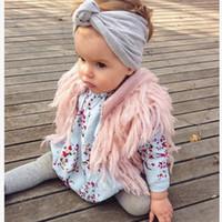 örme kazak çocuklar için toptan satış-Ins Sıcak Satmak Bebekler Çocuk Püsküller Hırka Örme Yelekler Şeker Renk Rahat Kazak Sevimli Erkek Kız Şık Ceketler outwears