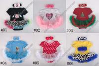 eule baby kleidung großhandel-Baby-Prinzessin Owl / Weihnachtsbaby-Spielanzug-Baby Einteiler Bodysuit-Mädchen-Spielanzug-Baby-Sommer-Kleidungsspielanzug + Haarband A001