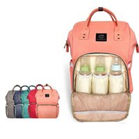 Wholesale Green Baby Bags - LAND Update Mummy Maternity Nappy Bag Brand Large Capacity Baby Bag Travel Backpack Desiger Nursing Bag for Baby Care