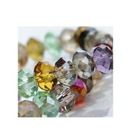 Wholesale 8mm Rondelles - Assorted china top assorted crystal beads 4MM 6MM 8MM 10MM Faced glass beads crystal rondelles beads Free Shipping