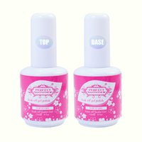 uv лак идеальное лето оптовых-Wholesale-Perfect Summer Primer Base Gel Nail Art UV Gel Polish 15ml Top Coat