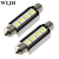 Wholesale Map Cool - WLJH Cool White CANBUS 2SMD 31mm 36mm 39mm 3SMD 41mm 4SMD 578 211-2 212-2 Festoon LED Bulbs Car Interior Lamp Dome Map License Light