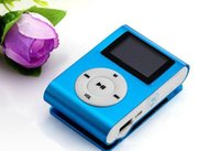 Wholesale mp3 player screen sd slot resale online - Colorful MINI Clip MP3 Player with Inch LCD Screen Music player Support Micro SD Card TF Slot Earphone USB Cable with Gift b