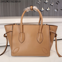 Wholesale Crochet Cow - Luxury Leather Totes Factory Direct Sale Women Buisness casual handbags plain cow leather NO 2952 size 27*23*19cm free shipping